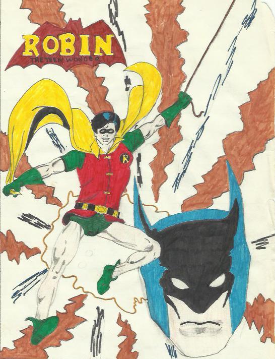 Robin_swinging